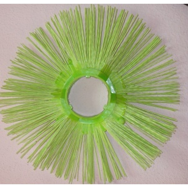 Щётка дисковая 120х550 полипропиленовая беспроставочная (гнутая)